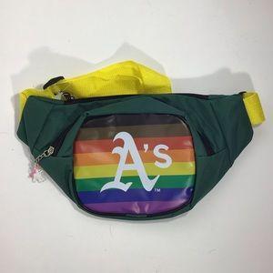 MLB Oakland athletics pride rainbow fanny pack